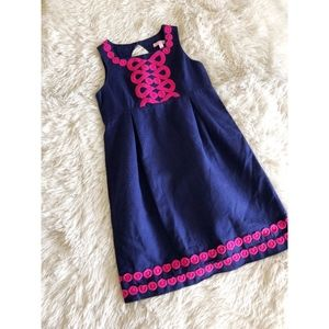 LILLY PULITZER KIDS blue+magenta sleeveless dress